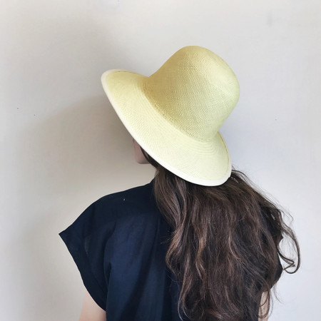 Clyde Dome Panama Hat in Lemon