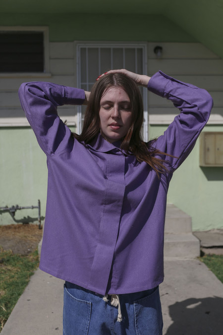 Baserange Isha Shirt in Purple