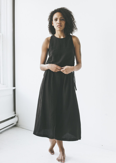 First Rite - Pleated Skirt in Black