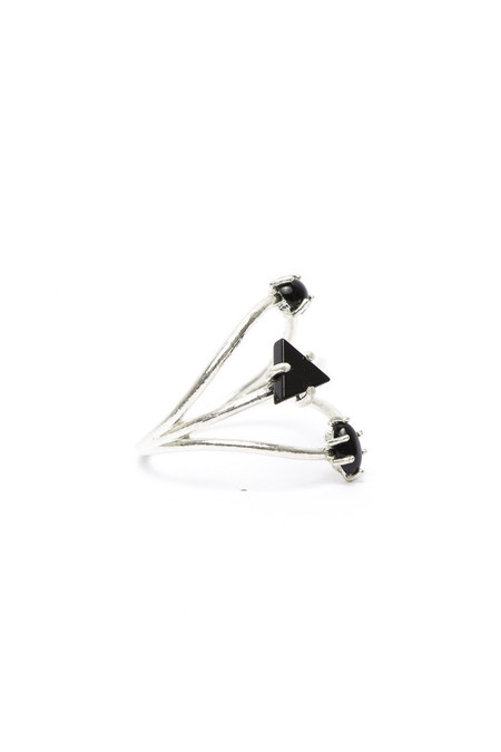 I Like It Here Club Constellation Ring, Black Onyx/Silver