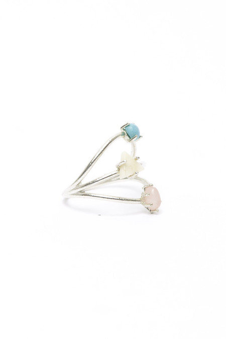 I Like It Here Club Constellation Ring, Turquoise/Silver