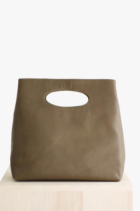 Ceri Hoover Alys tall handbag in moss