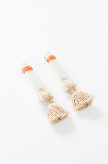 Gamma Folk Tassel Earrings