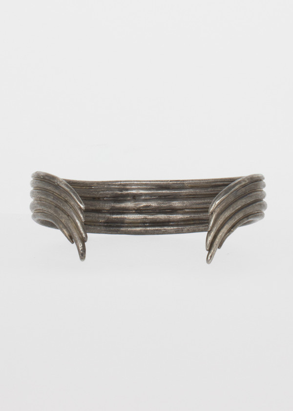 simple bow cuff - sterling silver plate