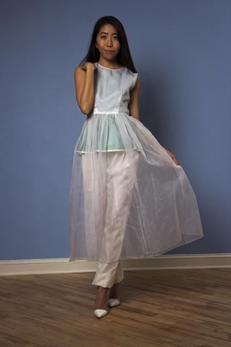 Opal Heart Peplum Dress *Runway Couture*