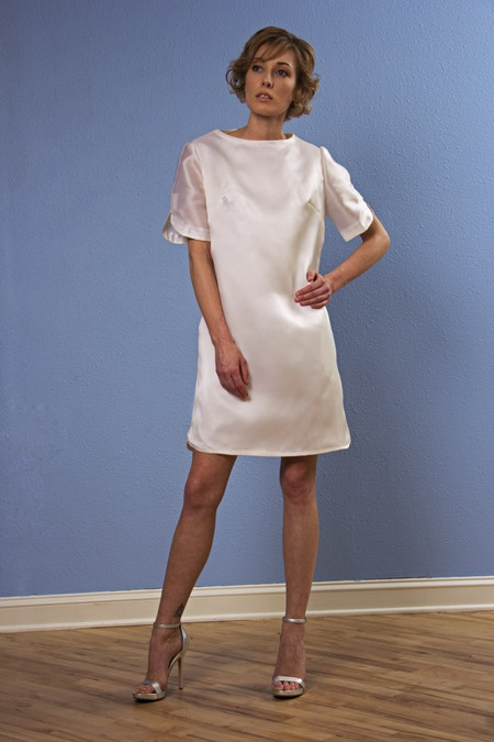 Opal Heart Perfect Short Sleeve Silk Dress