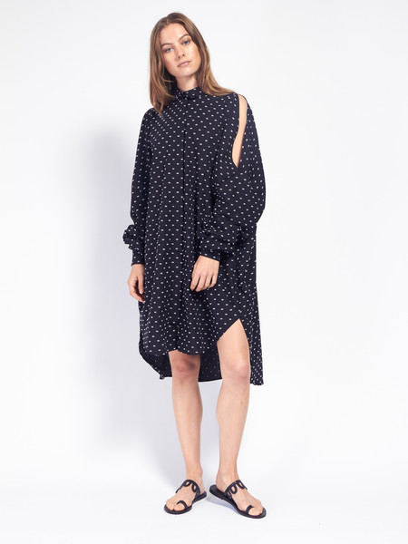 Henrik Vibskov Bumble Shirt Dress Black