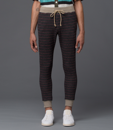 THADDEUS O'NEIL - Striped Pipe Pant -­ Flamingo Pink