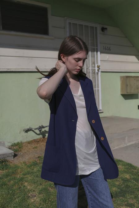 Caron Callahan Beckett Vest in Indigo