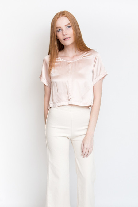Ali Golden Silk T-Shirt / Blush