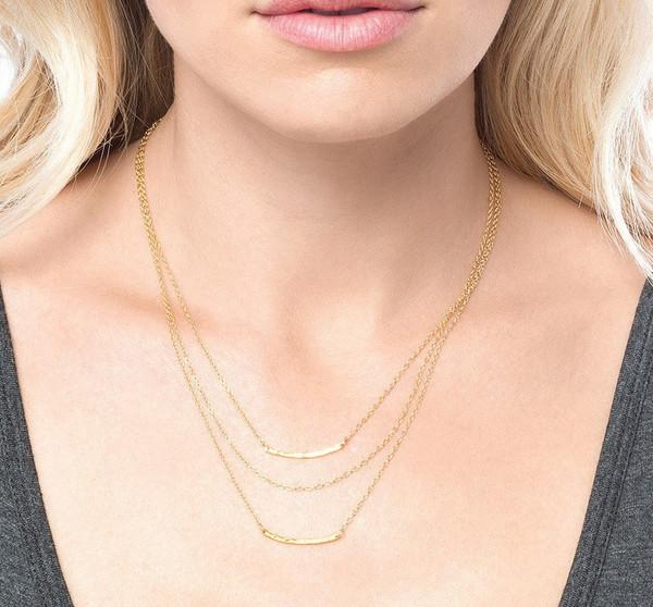 Gorjana Taner Bar Mini Triple Layer Necklace