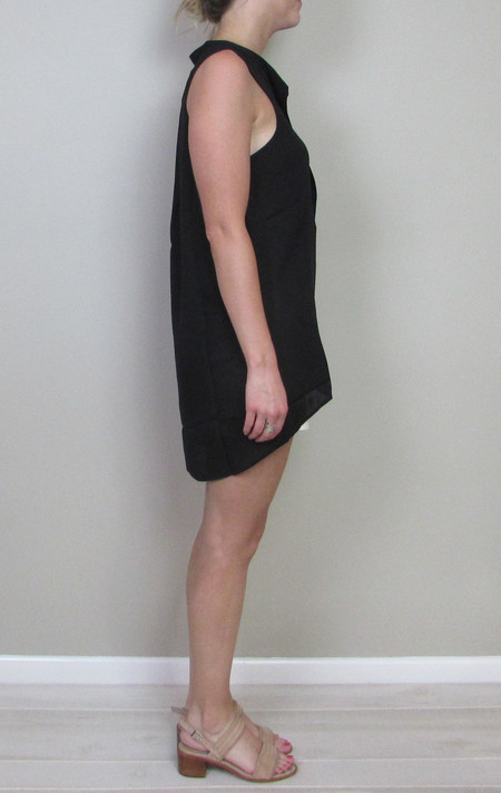 Heather silk placket tank