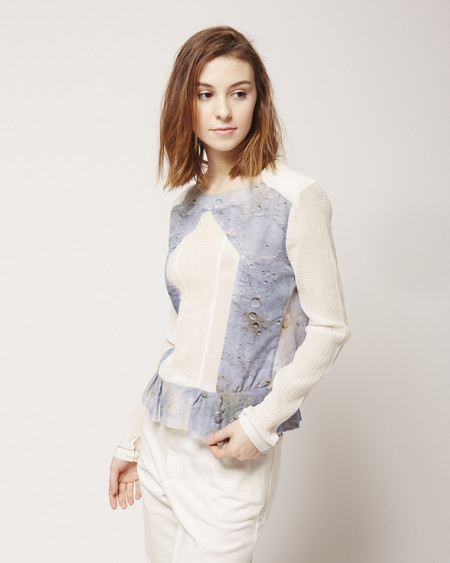 Risto Epaulette Blouse in Blue Moon