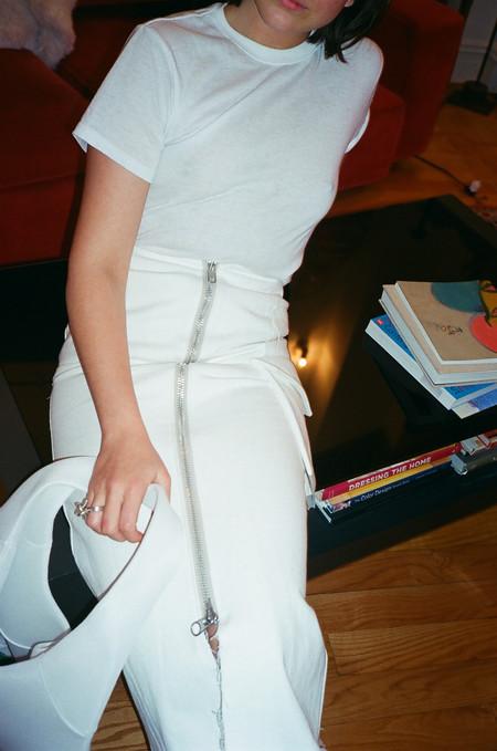 Alexa Stark White Denim Skirt