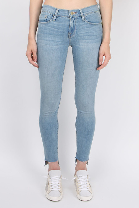 FRAME Denim Le Skinny De Jeanne Raw Stagger