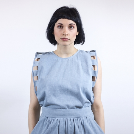 Eve Gravel Memphis Blues Top - Blue