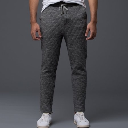 KRAMMER & STOUDT - Luxe Knit Sweatpant -­ Grey Quilted