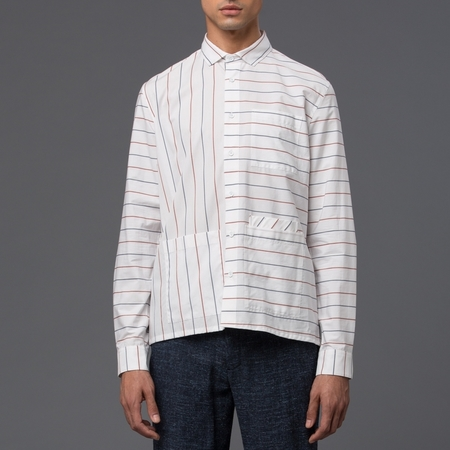 DDUGOFF - Sol Four Pocket Shirt - Business Stripe