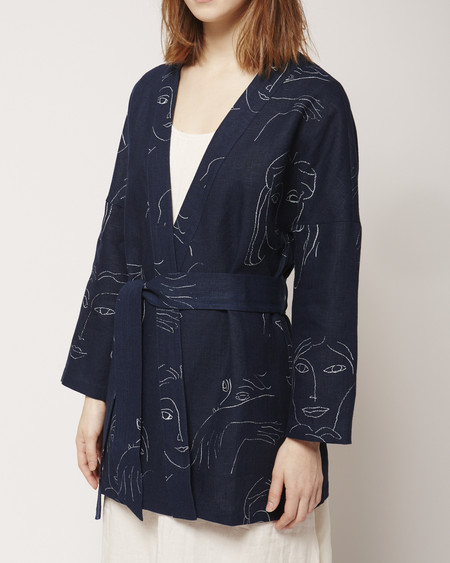 Paloma Wool Naniran Jacket in Navy Print