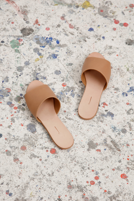 The Palantines Caelum Slide Sandal - Tan Leather