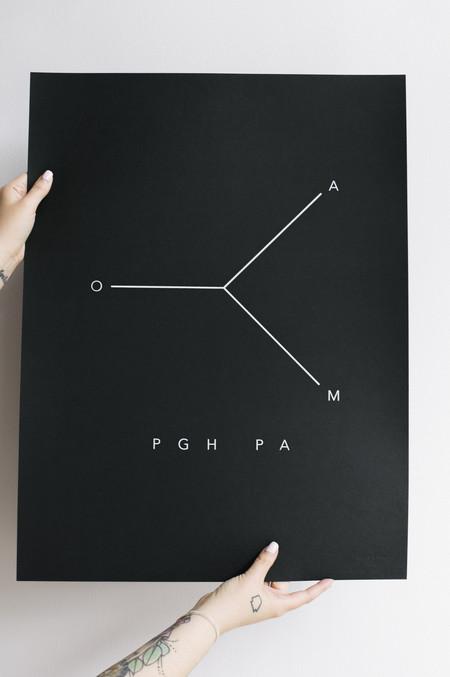 Joan The Pittsburgh Minimalist Map Print