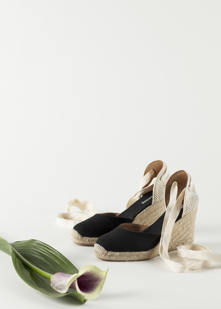 Soludos Tall wedge Linen Shoe