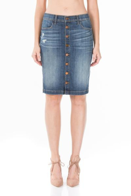 Fidelity Denim Collette Denim Skirt in Artisan Blue