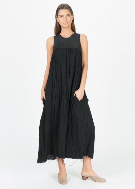 Hazel Brown Leather Vest Dress