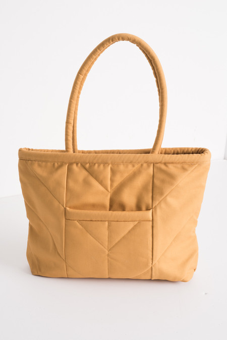 Electric Feathers Enano Tote in Yellow