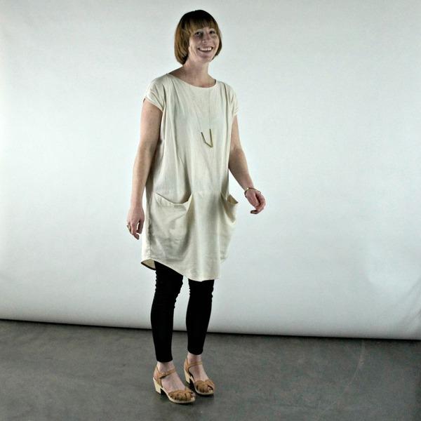 Wen Dress in Bone Blush by Ursa Minor