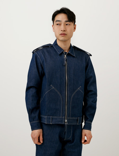 E Tautz Mens Blouson Denim Jacket Indigo
