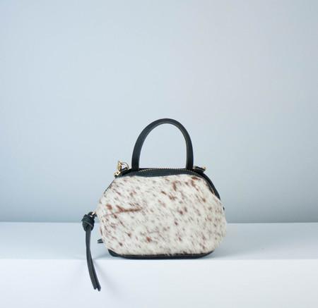 Eleven Thirty Katie Mini Shoulder Bag: Salt + Pepper : Brown + White