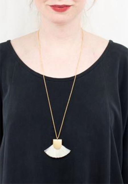 Sunday Supply Co. Pinna Necklace White