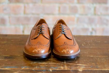 Alden Shoes 979 Long Wing Blucher Burnished Tan Calf
