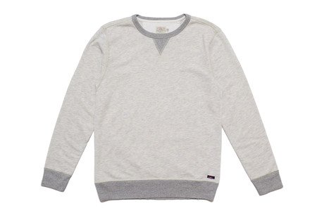 Faherty Brand ATHLETIC GREY CREWNECK
