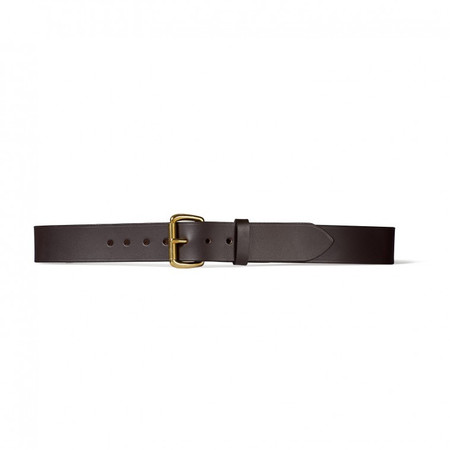 "Filson 1-1/2"" Brown Leather Belt"