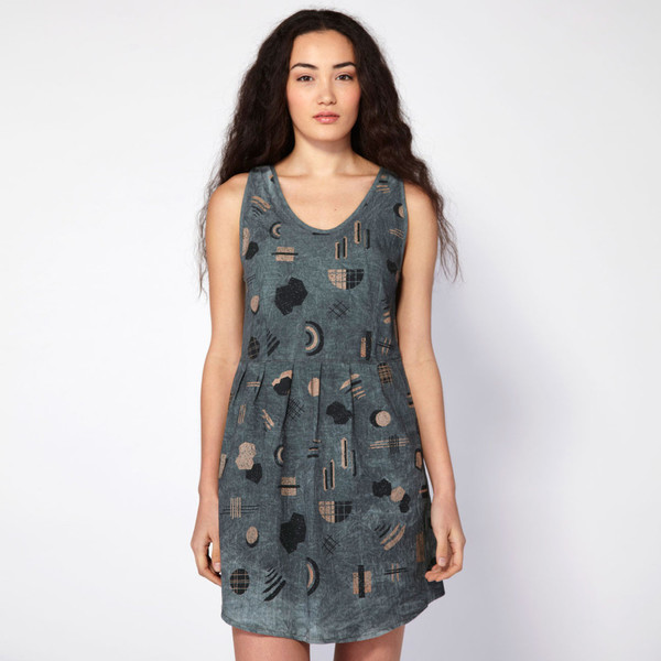 Make it Good Pleated Tank Dress in Shapes
