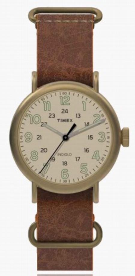Timex Weekender Cream Dial Antique Brass