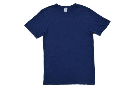 Velva Sheen Navy Hemp Tee