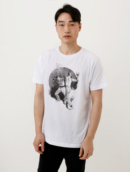 Frank Leder Mens Cotton Print T-Shirt Boxing