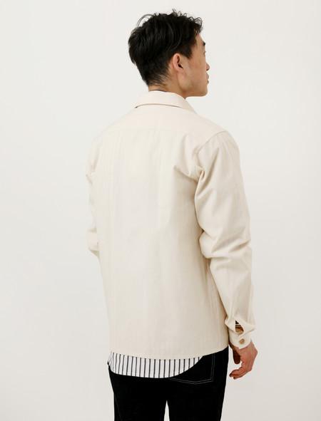 Frank Leder Cotton Shirt Jacket Cream
