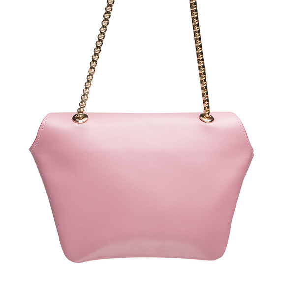 Ellia Wang Geometry Layer Clutch in Baby Pink Leather