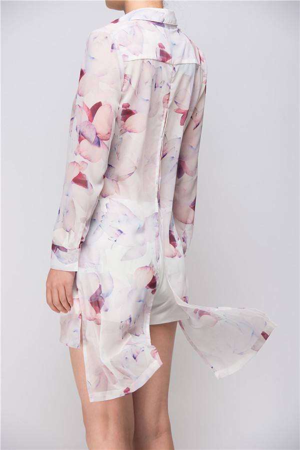 Few Moda Light Weight Floral Long Shirt