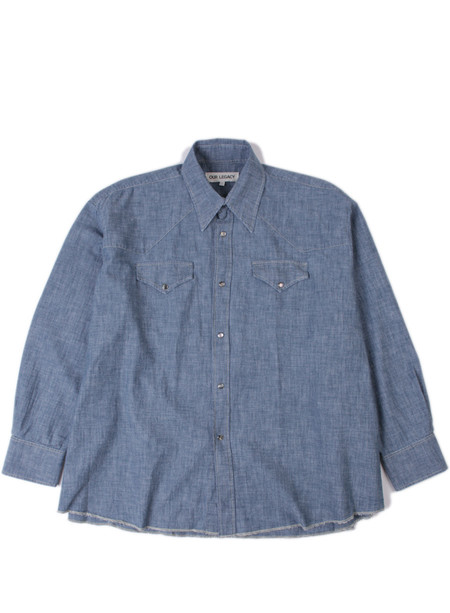 Our Legacy Ranch Shirt Washed Blue Chambray