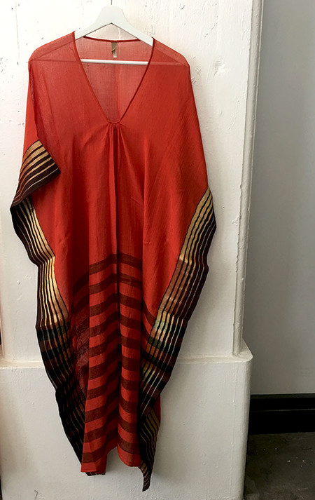 Two Sunset orange caftan