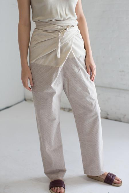 Cosmic Wonder Edo-Komon Wrapped Pants in Natural x Gray