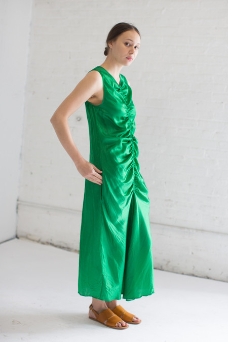 Creatures of Comfort Mesta Dress in Amazon Green