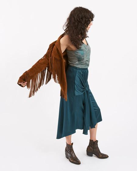 Achro Bow Front Satin Skirt