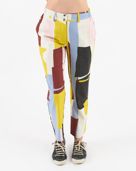 34N 118W Do-Nothing Silk Trousers