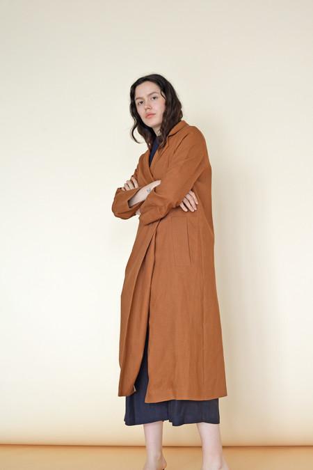 Wolcott : Takemoto Linen Norma Jacket in Penny